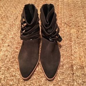 New Without Box Free People Strappy Ankle Boots